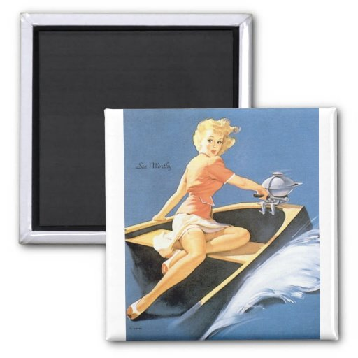 Vintage Retro Gil Elvgren Pin Up Girl Refrigerator Magnets