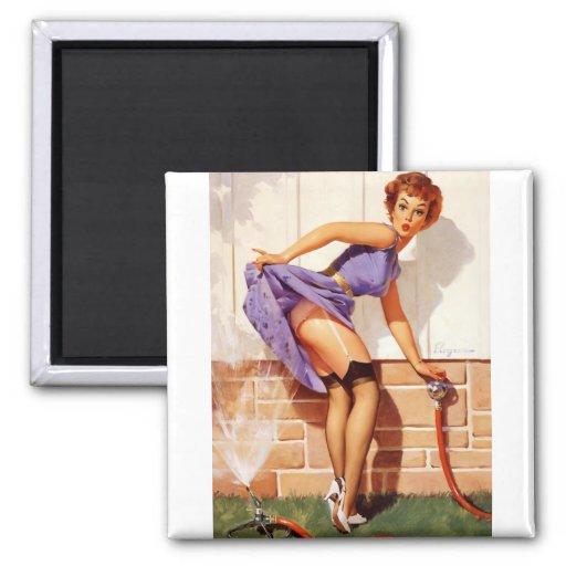 Vintage Retro Gil Elvgren Pin Up Girl Magnet