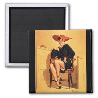 Vintage Retro Gil Elvgren Pin Up Girl Fridge Magnet