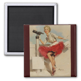 Vintage Retro Gil Elvgren Pin Up Girl Magnets