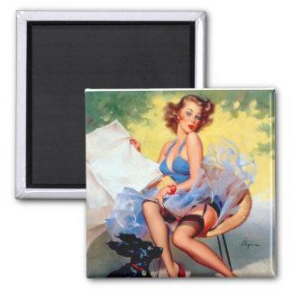 Vintage Retro Gil Elvgren Pin Up Girl Fridge Magnets