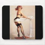 Vintage Retro Gil Elvgren Pin Up Girl Mouse Pad
