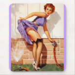 Vintage Retro Gil Elvgren Pin Up Girl Mouse Pads