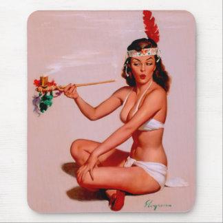 Vintage Retro Gil Elvgren Pin Up Girl Mousepad