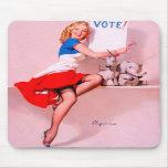 Vintage Retro Gil Elvgren Pin Up Girl Mousepads