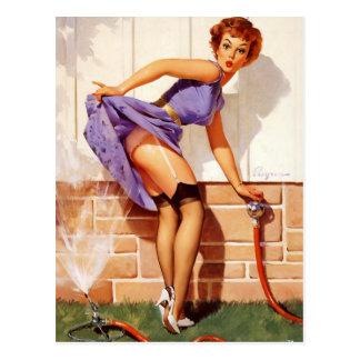 Vintage Retro Gil Elvgren Pin Up Girl Post Card