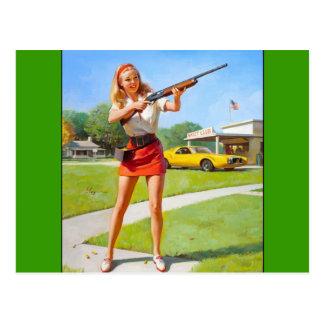 Vintage Retro Gil Elvgren Pin Up Girl Postcard