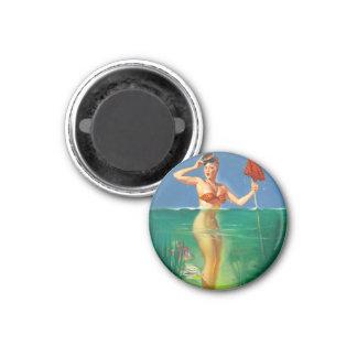 Vintage Retro Gil Elvgren Scuba Diver Pin Up Girl Magnets