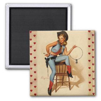 Vintage Retro Gil Elvgren Sheriff Pin Up Girl Magnets