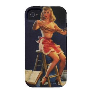 Vintage Retro Gil Elvgren Taffy maker Pinup girl iPhone 4/4S Cases
