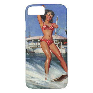 Vintage Retro Gil Elvgren Water Ski pinup girl iPhone 8/7 Case