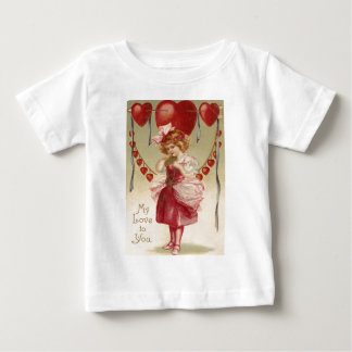 Vintage Retro Girl Hearts Arrows Valentine Card Infant T-Shirt