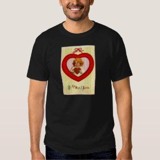 Vintage Retro Girl In Heart Valentine T Shirt