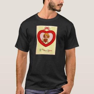 Vintage Retro Girl In Heart Valentine T-Shirt