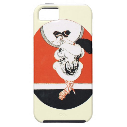 VIntage, retro girl with a mirror iPhone 5 Cover