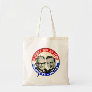 Vintage Retro Goldwater Miller Election Button Bags