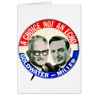 Vintage Retro Goldwater Miller Election Button Greeting Card