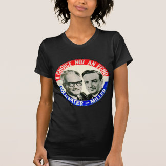 Vintage Retro Goldwater Miller Election Button Shirts