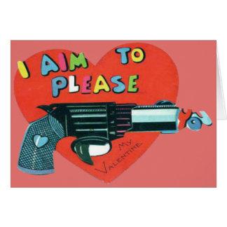Vintage Retro Gun Valentine Card