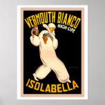 Vintage Retro Italian vermouth advertising Poster