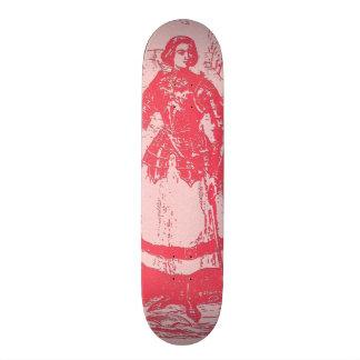 Vintage Retro Joan Of Arc Pink Skate Deck