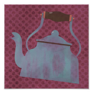 Vintage Retro Kettle Kitchen Poster