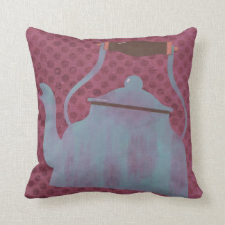 Vintage Retro Kettle Kitchen Throw Pillow