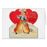 Vintage Retro Kids Valentine Cowboy Come & Get Me