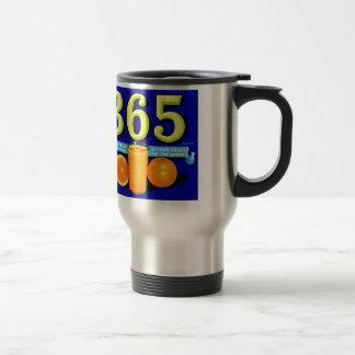 Vintage Retro Kitsch 365 Oranges Fruit Label Art Stainless Steel Travel Mug