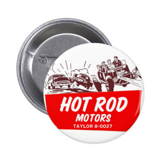 Vintage Retro Kitsch 50s Hot Rod Motors 6 Cm Round Badge