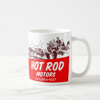 Vintage Retro Kitsch 50s Hot Rod Motors Basic White Mug