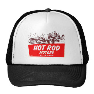 Vintage Retro Kitsch 50s Hot Rod Motors Cap