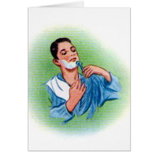 Vintage Retro Kitsch 50s Shaving Close Shave Greeting Card