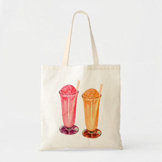 Vintage Retro Kitsch 50s Soda Fountain Parfaits Budget Tote Bag