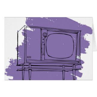 Vintage Retro Kitsch 50s TV Television Set Card