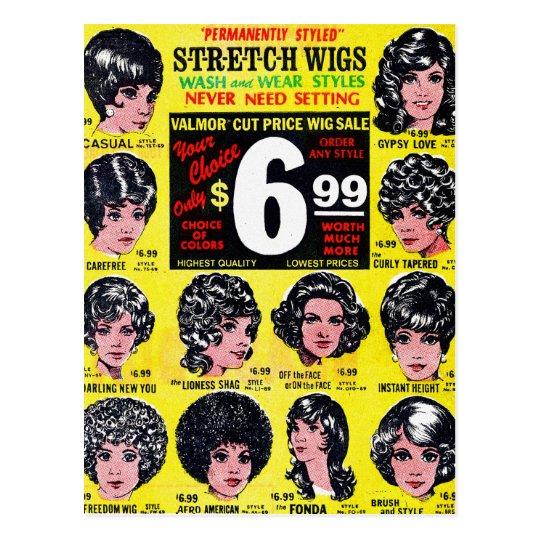 Vintage Retro Kitsch 60s Strech Wigs $6.99 Ad
