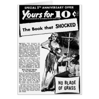 Vintage Retro Kitsch Bad Ad The Book That Shocked Card