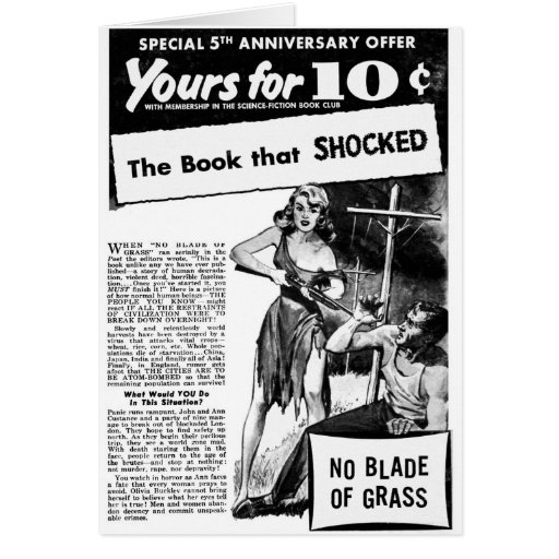 Vintage Retro Kitsch Bad Ad The Book That Shocked! Card