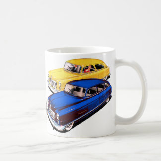 Vintage Retro Kitsch Car Nash Ambassador Art Basic White Mug