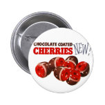 Vintage Retro Kitsch Chocolate Covered Cherries Buttons