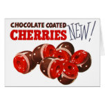 Vintage Retro Kitsch Chocolate Covered Cherries Greeting Cards