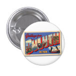 Vintage Retro Kitsch Greetings From Duluth MN 3 Cm Round Badge