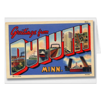 Vintage Retro Kitsch Greetings From Duluth MN Card