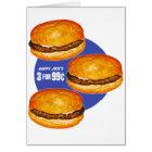 Vintage Retro Kitsch Hamburgers Happy Jack's 99¢ Card