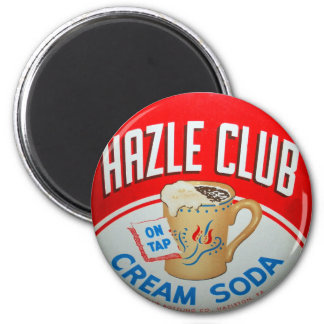 Vintage Retro Kitsch Hazle Club Club Soda Sign 6 Cm Round Magnet