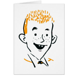 Vintage Retro Kitsch Irish Redhead 'Ginger Boy' Greeting Card