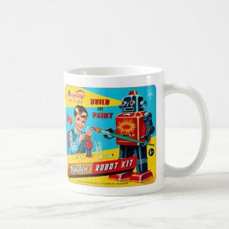 Vintage Retro Kitsch Kids Toy Wooden Robot Kit Mug