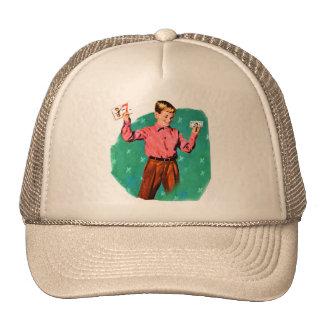 Vintage Retro Kitsch Lucky Sevens Money Cap