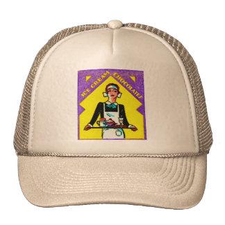 Vintage Retro Kitsch Match Art 30s Deco Waitress Trucker Hat
