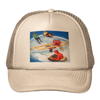 Vintage Retro Kitsch Motorized Kid's Skating Rink Hat